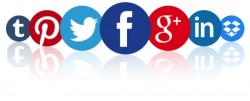 Social media icons Luxalia